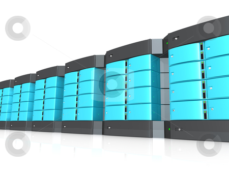 3D Servers stock photo, Computer generated image - 3D Servers . by Konstantinos Kokkinis