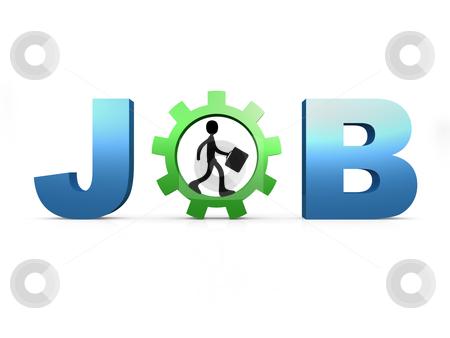 Job stock photo, Computer generated 3d image - Job . by Konstantinos Kokkinis