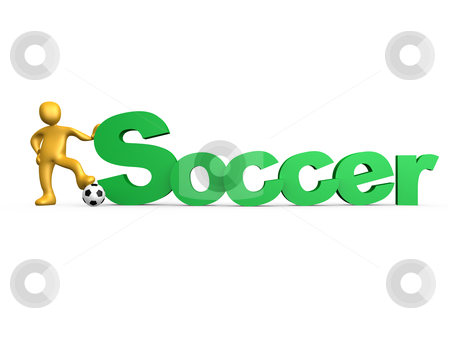 Soccer stock photo, Computer generated 3d image - Soccer . by Konstantinos Kokkinis