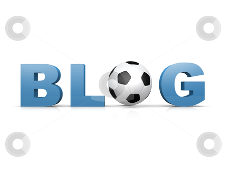 Soccer Blog stock photo, Computer generated image - Soccer Blog . by Konstantinos Kokkinis