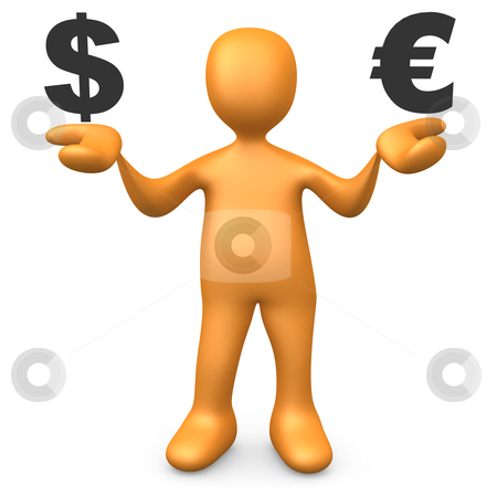 Dollar vs Euro stock photo, Computer generated image - Dollar vs Euro. by Konstantinos Kokkinis
