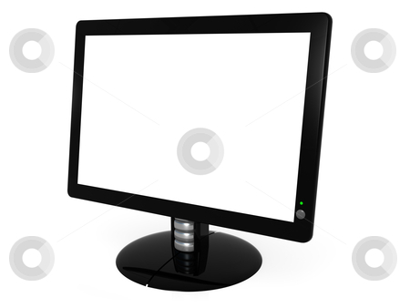 Black Monitor stock photo, Computer generated image - Black Monitor . by Konstantinos Kokkinis