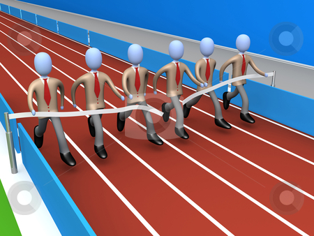 Team Success stock photo, Metaphor of how teamwork brings success . by Konstantinos Kokkinis