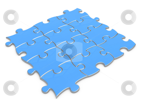 Jigsaw Puzzle stock photo, Computer generated image- Jigsaw Puzzle .  by Konstantinos Kokkinis