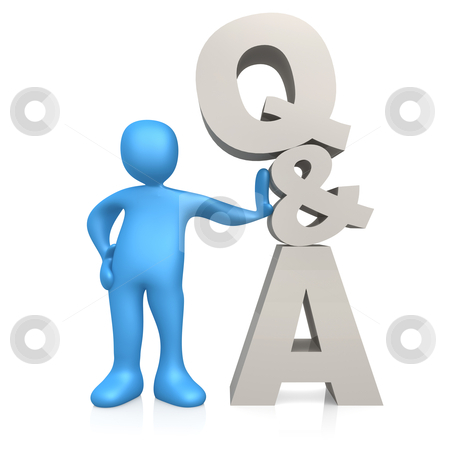 Questions And Answers stock photo, Computer generated image - Questions And Answers. by Konstantinos Kokkinis