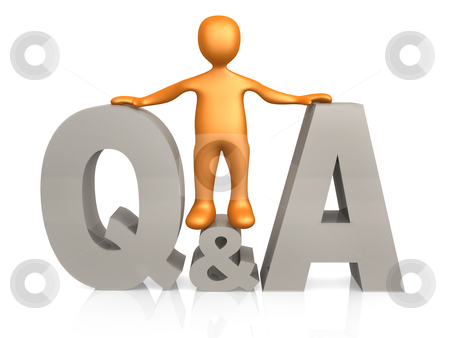 Questions & Answers stock photo, Computer generated image - Questions & Answers. by Konstantinos Kokkinis