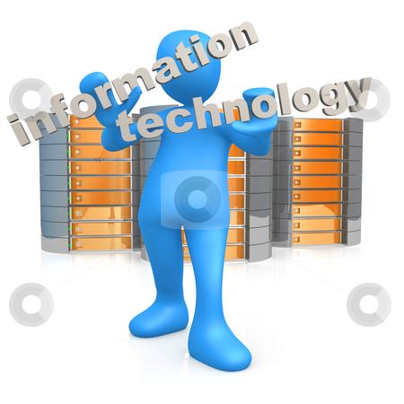 Information Technology stock photo, Computer generated image - Information Technology . by Konstantinos Kokkinis