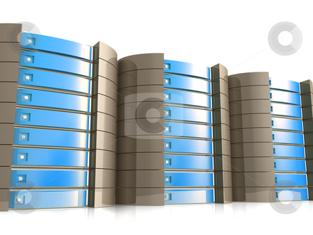 Web Hosting Equipment stock photo, Computer generated image - Web Hosting Equipment. by Konstantinos Kokkinis