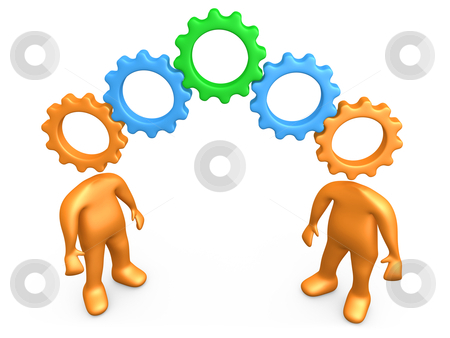 Same Way Of Thinking stock photo, Computer generated image - Same Way Of Thinking. by Konstantinos Kokkinis