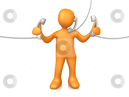 Phone Support stock photo, Computer generated image - Phone Support . by Konstantinos Kokkinis