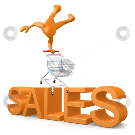 Sales stock photo, Computer generated 3d image - Sales. by Konstantinos Kokkinis