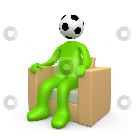 Addicted To Soccer stock photo, Computer generated image - Addicted To Soccer. by Konstantinos Kokkinis