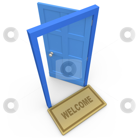 Welcome stock photo, Computer generated 3d image - Welcome . by Konstantinos Kokkinis