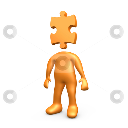 Puzzle Person stock photo, Computer generated image - Puzzle Person . by Konstantinos Kokkinis