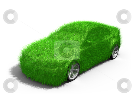 Green Car stock photo, Computer generated image - Green Car . by Konstantinos Kokkinis