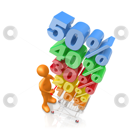 Discount stock photo, Computer generated 3d image - Discount . by Konstantinos Kokkinis