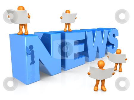 News stock photo, Computer generated 3d image - News . by Konstantinos Kokkinis