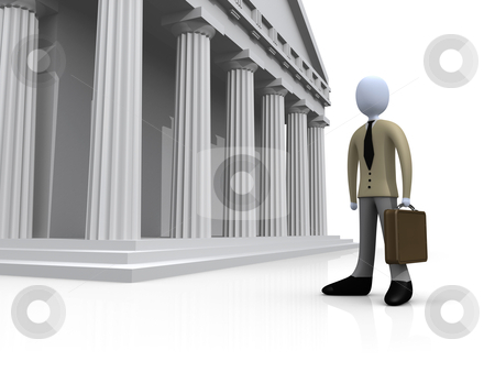 Lawyer stock photo, Computer Gegerated 3D Image - Lawyer . by Konstantinos Kokkinis