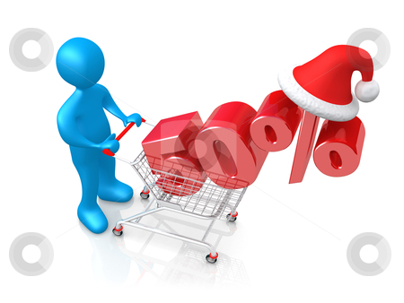 Holiday Discount stock photo, Computer generated image - Holiday Discount . by Konstantinos Kokkinis