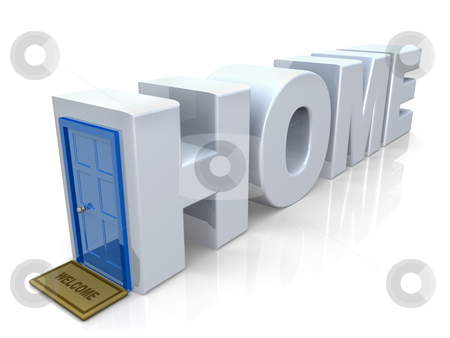 Home stock photo, Computer generated 3d image - Home . by Konstantinos Kokkinis