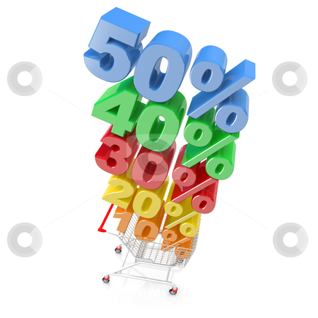Discount Cart stock photo, Computer generated image - Discount Cart . by Konstantinos Kokkinis