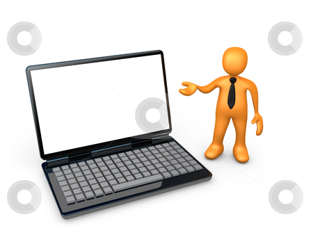 Laptop Presentation stock photo, Computer Generated Image - Laptop Presentation . by Konstantinos Kokkinis