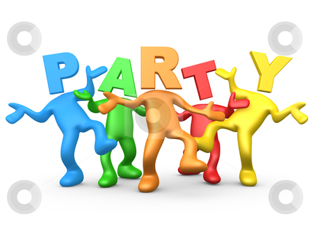 Party People stock photo, Computer Generated Image - Party People . by Konstantinos Kokkinis
