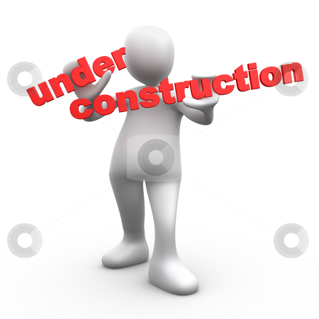 Under Construction stock photo, Computer Generated Image - Under Construction . by Konstantinos Kokkinis