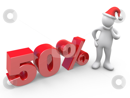 50 Percent Off stock photo, Computer Generated Image - 50 Percent Off. by Konstantinos Kokkinis