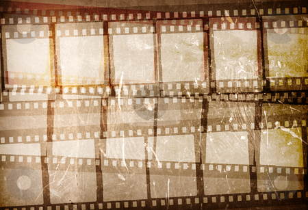 Grunge Film Frame effect stock photo, Great film strip for textures and backgrounds frame -with space for your text and image by ilolab