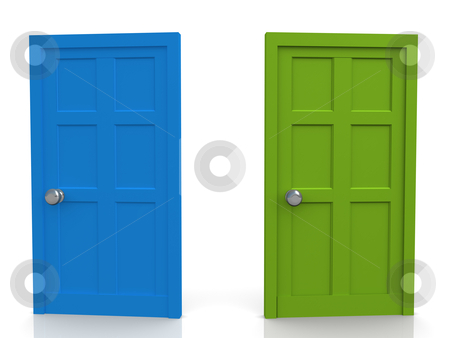 Doors stock photo, Computer Generated 3D Image - Doors . by Konstantinos Kokkinis