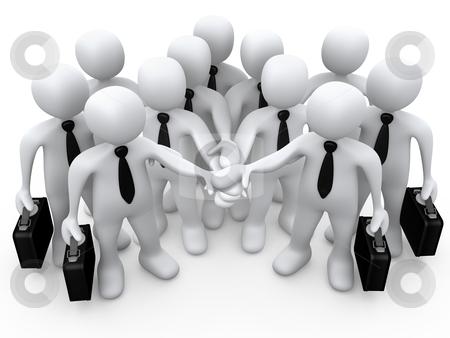 Teamwork stock photo, Computer Generated 3D Image - Teamwork by Konstantinos Kokkinis
