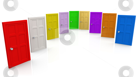 Doors stock photo, Computer Generated Image - Doors . by Konstantinos Kokkinis