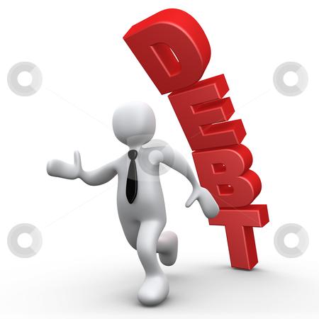 Debt stock photo, Computer Generated 3D Image - Debt . by Konstantinos Kokkinis