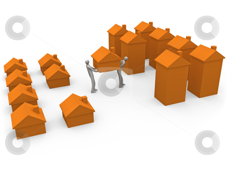 Home moving stock photo, Computer generated image - Home Moving. by Konstantinos Kokkinis
