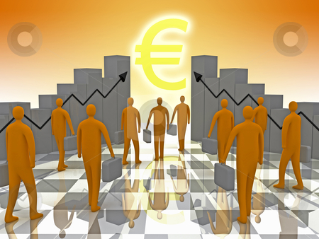 Business Sunshine stock photo, Computer generated image - Business Sunshine by Konstantinos Kokkinis