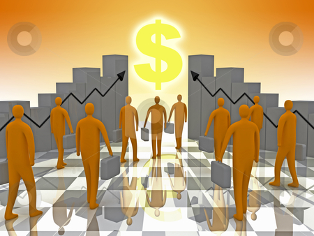 Business Sunshine stock photo, Computer generated image - Business Sunshine. by Konstantinos Kokkinis