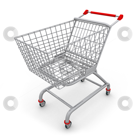 Shopping Cart stock photo, Computer generated image - Shopping Cart. by Konstantinos Kokkinis