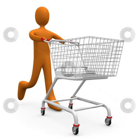 Going Shopping stock photo, Computer generated image - Going Shopping. by Konstantinos Kokkinis