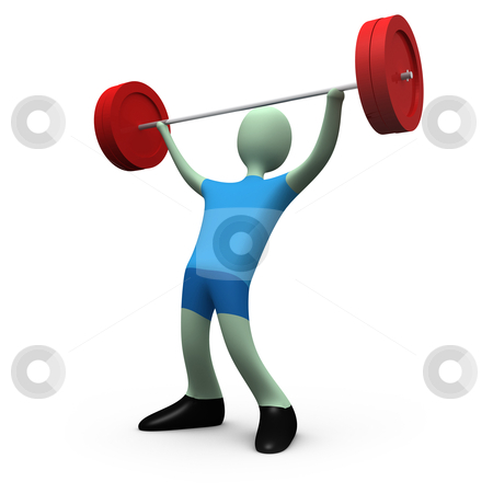 Sports - Weight-lifting #5 stock photo, Computer generated image - Sports - Weight-lifting #5. by Konstantinos Kokkinis
