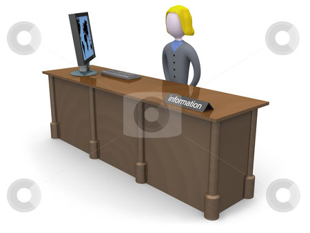 Information Desk stock photo, Computer generated image - Information Desk. by Konstantinos Kokkinis