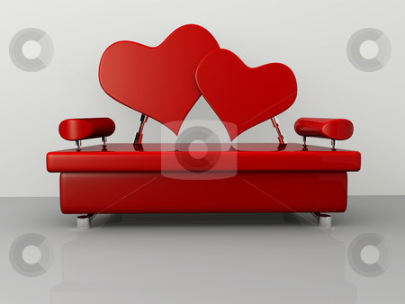 Valentine Sofa stock photo, Computer generated image - Valentine Sofa. by Konstantinos Kokkinis