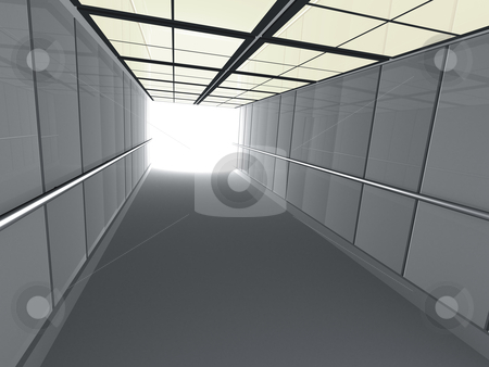 Corridor leading to light stock photo, 3d corridor leading to light. by Konstantinos Kokkinis