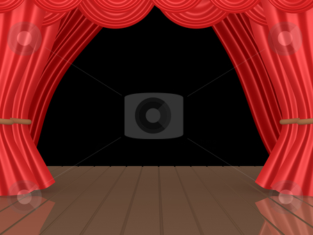 Theatrical Stage stock photo, Computer generated image - Theatrical Stage. by Konstantinos Kokkinis