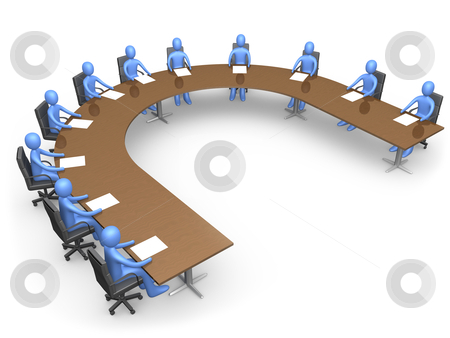 The Council stock photo, people having a business meeting. by Konstantinos Kokkinis