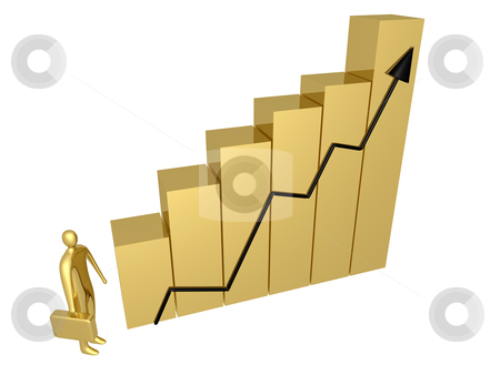 Business Progress stock photo, Metaphor of a successful business. by Konstantinos Kokkinis