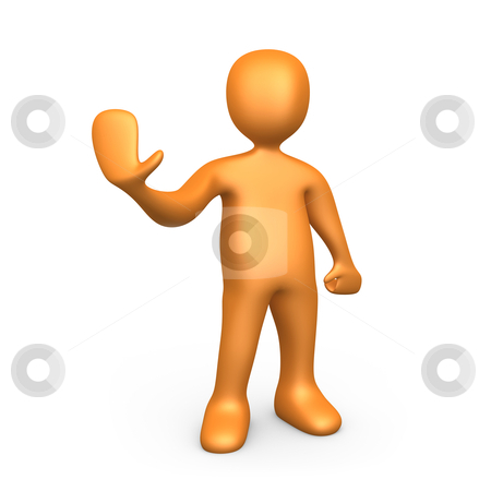 Stop stock photo, 3d person giving order to stop. by Konstantinos Kokkinis