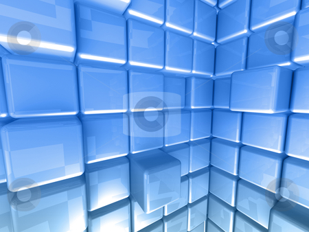 Abstract Background stock photo, Computer Generated Image - Abstract Background - Cubes. by Konstantinos Kokkinis