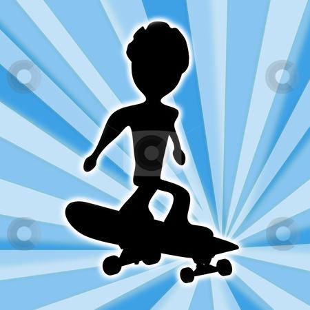 Skateboarding stock photo, Computer generated image - Skateboarding Design . by Konstantinos Kokkinis