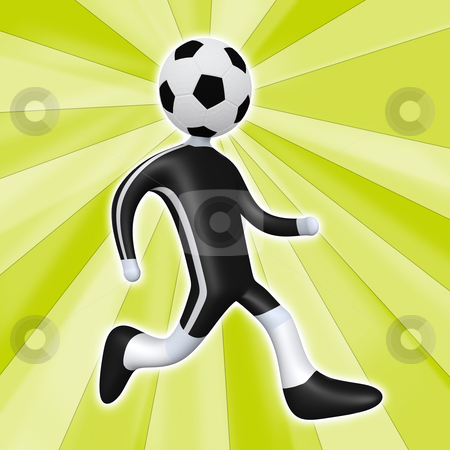 Football Person stock photo, Computer generated image - Football Person . by Konstantinos Kokkinis